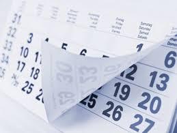 Echéances calendrier