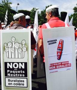 Bannière 2 novembre Manifestation buralistes