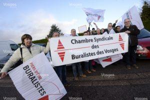 Manifestation buraliste Vosges