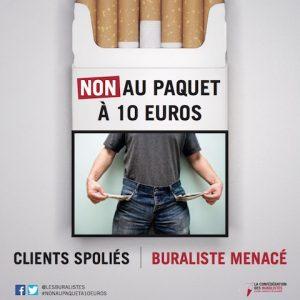 Une affiche contre les 10 euros