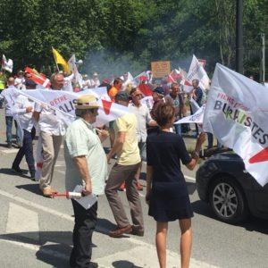 Buralistes frontaliers en colère
