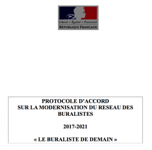 Protocole d'Accord Modernisation du Réseau des Buralistes